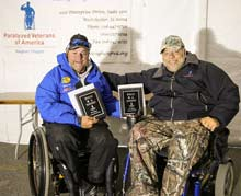 disabled veteran shows fishing award