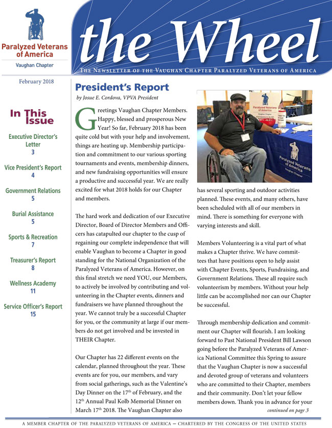 The Wheel--VPVA Newsletter